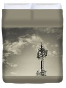 Communication Tower Duvet Cover by Marco Oliveira
