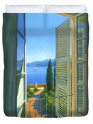 Como View Duvet Cover by Michael Swanson