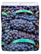Concord Grapes Duvet Cover by Mary  Smyth
