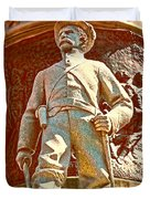 Confederate Soldier Statue I Alabama State Capitol Duvet Cover by Lesa Fine