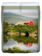 Connecticut River Farm Duvet Cover by Edward Fielding