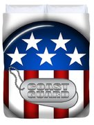 Cool Coast Guard Insignia Duvet Cover by Pamela Johnson
