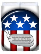 Cool Marines Insignia Duvet Cover by Pamela Johnson