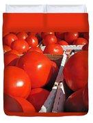 Cool Tomatoes Duvet Cover by Barbara McDevitt
