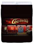 Cooters At Christmas Duvet Cover by Dan Sproul