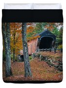 Corbin Covered Bridge Newport New Hampshire Duvet Cover by Edward Fielding