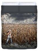 Corn Field Horror Duvet Cover by Jt PhotoDesign