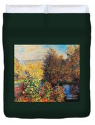 Corner Of Garden In Montgeron Duvet Cover by Claude Monet