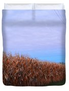 Cornfield In Autumn Duvet Cover by Luther   Fine Art