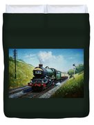 Cornish Riviera To Paddington. Duvet Cover by Mike  Jeffries