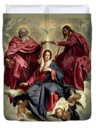 Coronation Of The Virgin Duvet Cover by Diego Velazquez