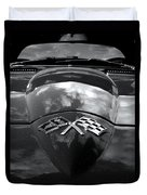 Corvette In Black And White Duvet Cover by Bill Gallagher