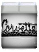 Corvette Sting Ray Emblem Duvet Cover by Paul Velgos