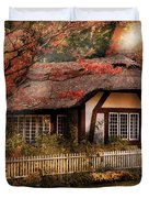 Cottage - Nana's House Duvet Cover by Mike Savad