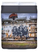 Council Of Monkeys Duvet Cover by Adrian Evans