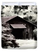 Country Charm In Dramatci Bw Duvet Cover by Darren Fisher