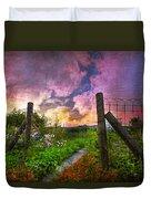 Country Garden Duvet Cover by Debra and Dave Vanderlaan