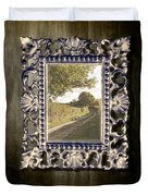 Country Lane Reflected In Mirror Duvet Cover by Amanda And Christopher Elwell