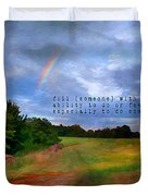 Country Rainbow Duvet Cover by Darren Fisher