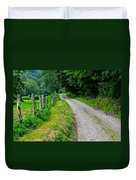 Country Road Duvet Cover by Frozen in Time Fine Art Photography