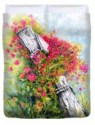 Country Rose Duvet Cover by Janine Riley