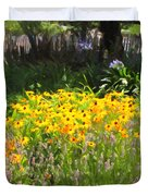 Countryside Cottage Garden 5D24560 Duvet Cover by Wingsdomain Art and Photography