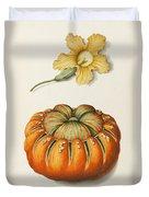 Courgette And A Pumpkin Duvet Cover by Joseph Jacob Plenck