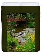 Covered Bridge Duvet Cover by Frozen in Time Fine Art Photography