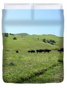 Cows Along The Rolling Hills Landscape of The Black Diamond Mines in Antioch California 5D22346 Duvet Cover by Wingsdomain Art and Photography