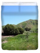Cows Along The Rolling Landscapes of The Black Diamond Mines in Antioch California 5D22291 Duvet Cover by Wingsdomain Art and Photography
