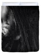 Cracked Face Duvet Cover by Erik Brede