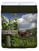 Crane Creek Vineyard Duvet Cover by Debra and Dave Vanderlaan