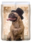 Crazy Top Dog Duvet Cover by Edward Fielding