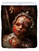 Creepy - Doll - It's Best To Let Them Sleep  Duvet Cover by Mike Savad