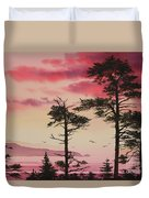 Crimson Sunset Splendor Duvet Cover by James Williamson