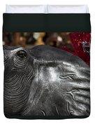 Crimson Tide For Christmas Duvet Cover by Kathy Clark