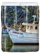 Crimson Tide in the Sunshine Duvet Cover by Michael Thomas