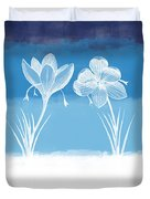 Crocus Flower Duvet Cover by Aged Pixel
