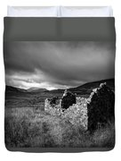 Crofters Cottage Ruin Duvet Cover by Dave Bowman