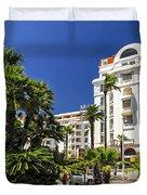 Croisette Promenade In Cannes Duvet Cover by Elena Elisseeva