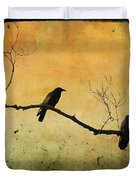 Crowded Branch Duvet Cover by Gothicolors Donna Snyder