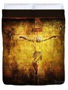 Crucified Via Dolorosa 12 Duvet Cover by Lianne Schneider