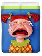 Crying Girl Duvet Cover by Amy Vangsgard