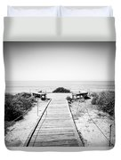 Crystal Cove Overlook Black And White Picture Duvet Cover by Paul Velgos