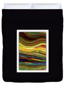 Crystal Waves Abstract 1 Duvet Cover by Carol Groenen
