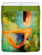 Cue L'orange Duvet Cover by Larry Martin