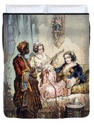 Cup Of Coffee, 1858 Duvet Cover by Amadeo Preziosi