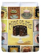 Cupcake Mosaic Duvet Cover by Catherine Holman