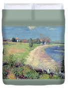 Curving Beach Duvet Cover by William James Glackens