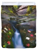 Cut Into Autumn Duvet Cover by Peter Coskun